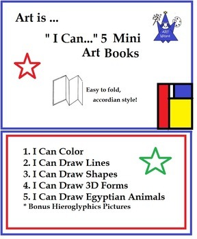 """I Can"" Create - Mini Art Elements Books ( 5 Printable Booklets)"