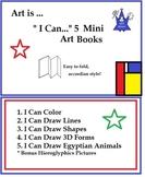 I Can Create - Mini Art Elements Books ( 5 Printable Booklets) Art Lesson