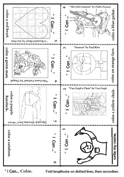 image regarding Printable Mini Booklets identified as I Can Make - Mini Artwork Things Textbooks ( 5 Printable Booklets) Artwork Lesson
