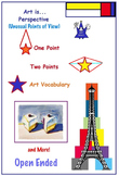 Art Perspective , Very Unusual Points of View ( 9 Printables), Art Lesson