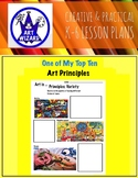 Art Principles (9 Open Ended Printables of Contemporary Art), Art Lesson