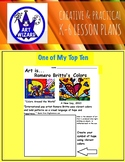 Art Elements - Romero Britto's Art  ( 7 Open Ended Printables), Art Lesson