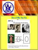 Art  Self-Portraits (Frida Kahlo) 6 Open-Ended Printables, Art Lesson