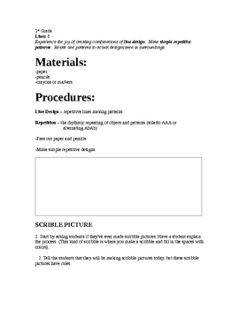 Art lesson- 1st grade - lines day 2