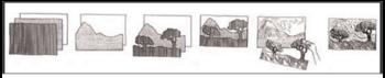 Art lesson - 5th grade - landscape art