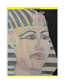 Art lesson/Ancient Egypt/Portrait of a Pharaoh