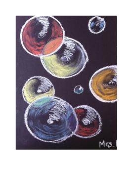 Art lesson- Color- Chalk Bubbles (lesson 8) Grade 6