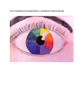 art lesson color color wheel eye lesson 7 grade 6 by everything art