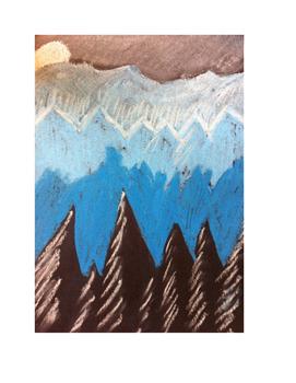 Art lesson- Color- Monochromatic Landscape (lesson 8) Grade 5