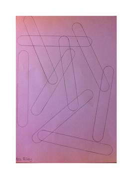 Art lesson- Color- Overlapping Craft Sticks (lesson 10) Grade 1