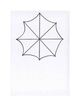 Art lesson- Color- Umbrella Color Wheel (lesson 8) Grade 4