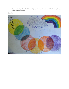 Art lesson- Color- Very Hungry Caterpillars (lesson 11) Grade 1