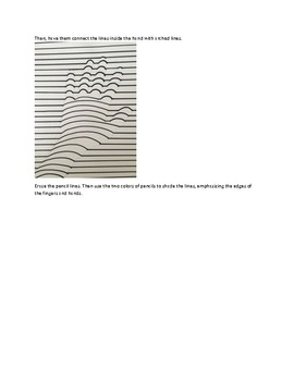 Art lesson- Form- 3D hand (lesson 16) Grade 1