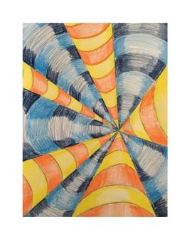 Art lesson- Form- Line Illusion (lesson 13) Grade 6