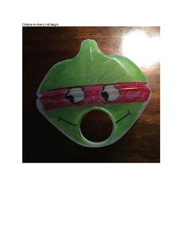 Art lesson- Form- Milk Jug Mask- Ninja Turtles (lesson 17) Grade 1