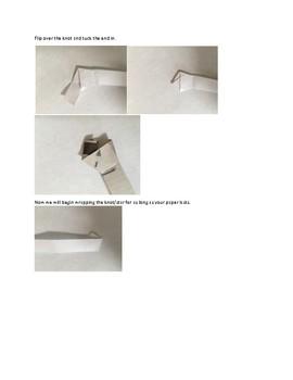 Art lesson- Form- Origami Stars (lesson 14) Grade 2