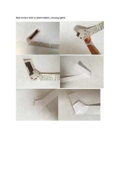Art lesson- Form- Origami Stars (lesson 16) Grade 3