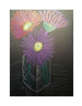 Art lesson- Form- Sidewalk Chalk (lesson 12) Grade 6