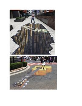 Art lesson- Form- Sidewalk Chalk (lesson 13) Grade 2