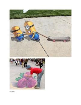Art lesson- Form- Sidewalk Chalk (lesson 13) Grade 4