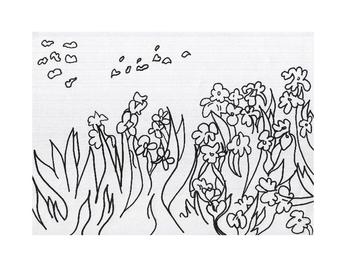 Art lesson- Line- Artist Study (Vincent Van Gogh)