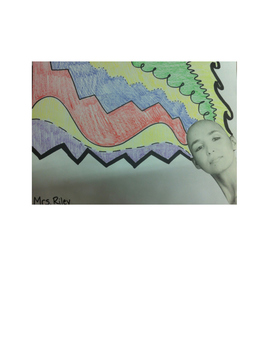 Art lesson- Line- Hair Lines (lesson 3) Grade 4