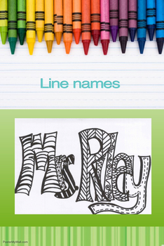 Art lesson- Line Names (lesson 2) first-sixth grade