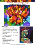 Art lesson - Picasso's Thanksgiving Turkey - Learn About The Art Movement Cubism