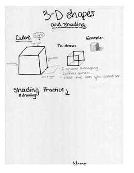 Art lesson- Shape- 3D (three dimensional) shapes (Lesson 5) Grade 6