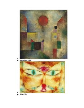 Art lesson-Shape- City Scape (Paul Klee) (lesson 6) Grade 4