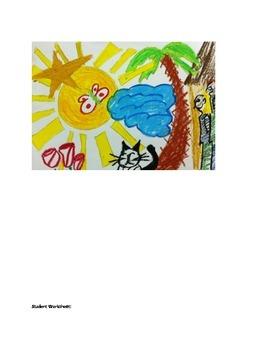 Art lesson- Shape- Draw me a (lesson 5) Grade 4