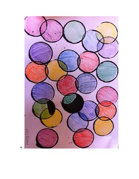 Art lesson- Shape- Overlapping Circles (lesson 8) Grade 3