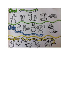 Art lesson-Shape- Shape Animals (lesson 4) Grade 2
