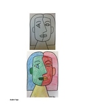 Art lesson- Shape and Color- Cubism Face (lesson 4 and 5) Grade 5