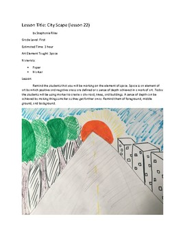Art lesson- Space- City Scape (lesson 22) Grade 1
