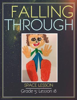Art lesson- Space- Falling through (Lesson 18) Grade 5