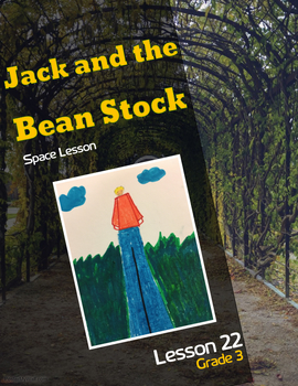 Art lesson- Space- Jack and the Bean Stock (lesson 22) Grade 3