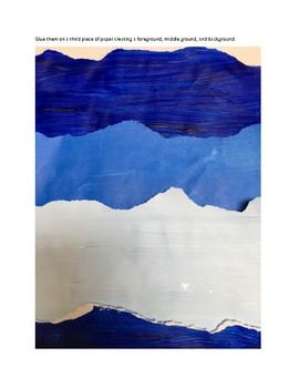 Art lesson- Space- Winter landscape (lesson 21) Grade 1