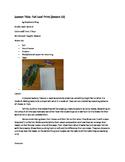 Art lesson- Texture- Foil Leaf Print (lesson 10) Grade 2