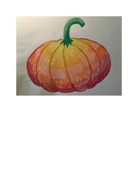 Art lesson- Value- Pumpkin Color Value (lesson 20) Grade 3