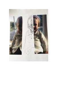 Art lesson- Value- Reflected Self portrait (lesson 17) Grade 6