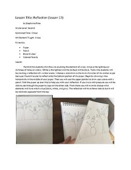 Art lesson- Value- Reflection (lesson 17) Grade 2