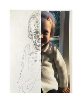 Art lesson- Value- Self Portrait (lesson 20) Grade 1