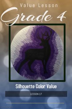 Art lesson- Value- Silhouette Color Value (lesson 17) Grade 4