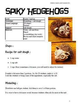 Art Lesson for Kids: Spiky Hedgehog
