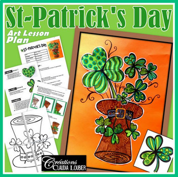 St.Patrick's Day Collective Art Activity and Lesson for Kids: St-Patrick's Day