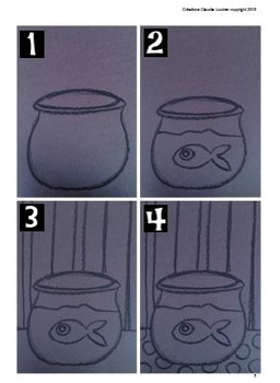 Art Lesson Plan for Kids: Fish in a Fishbowl