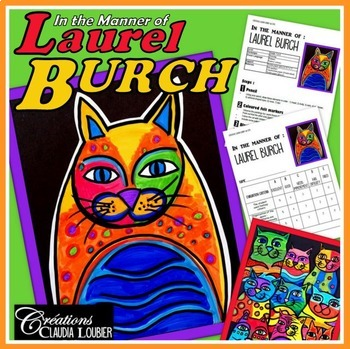 Art Lesson Plans for Kids: In the Style of Laurel Burch: Cats