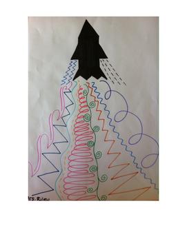 Art lessons 1-12, Elements- Line, Color, Shape, and Texture (Grade 2)