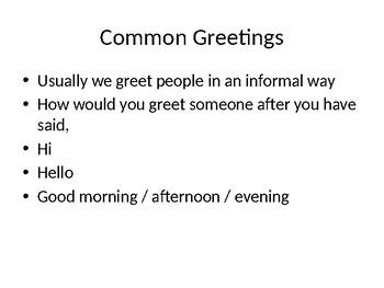 Art of Conversation ESL
